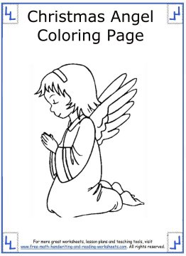 christmas angel coloring pages 11