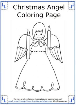 christmas angel coloring pages 12