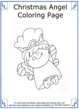 christmas angel coloring pages 13
