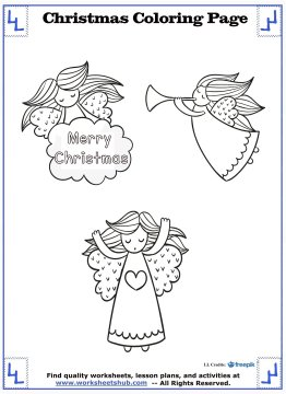 christmas angel coloring pages 16