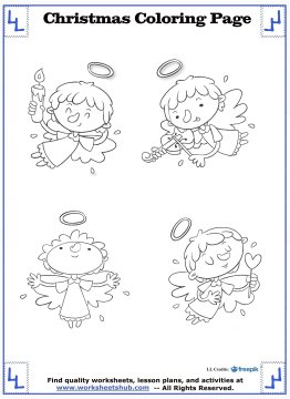 christmas angel coloring pages 18