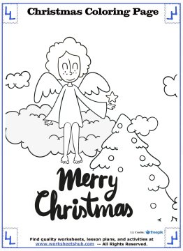 christmas angel coloring pages 19