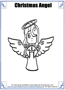 christmas angel coloring pages 2