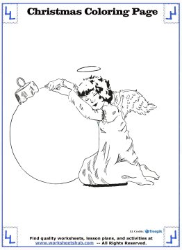 christmas angel coloring pages 20