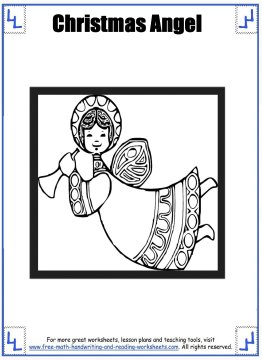 christmas angel coloring pages 3