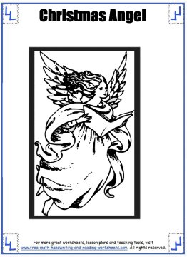 christmas angel coloring pages 4