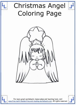 christmas angel coloring pages 6