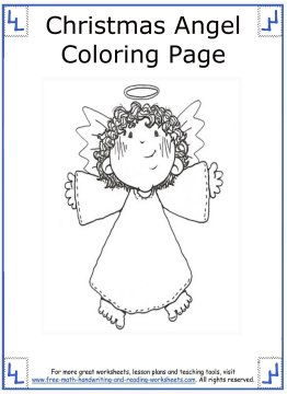 christmas angel coloring pages 7