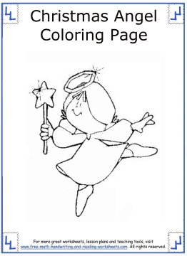 christmas angel coloring pages 8