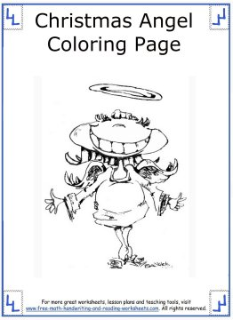 christmas angel coloring pages 9