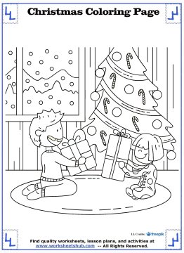 christmas coloring page 10