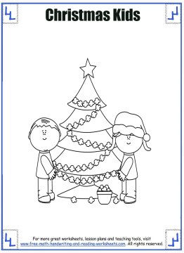 christmas coloring page 6