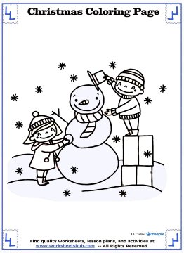 christmas coloring page 9