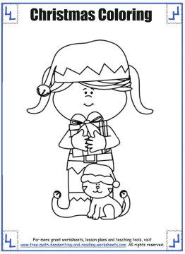 christmas coloring sheets 1