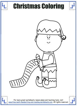 christmas coloring sheets 3