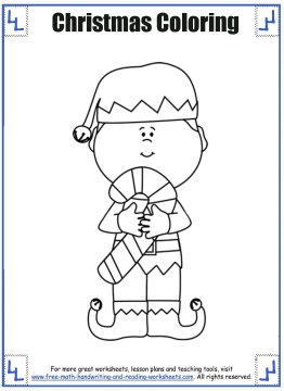 christmas coloring sheets 4