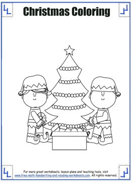 christmas coloring sheets 6