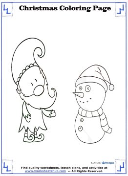 christmas coloring sheets 7