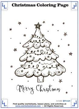 christmas tree coloring page 10