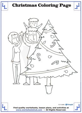 christmas tree coloring page 11