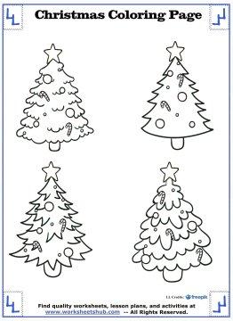 christmas tree coloring page 12