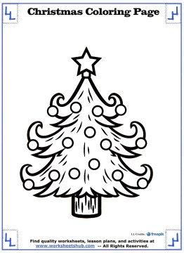 christmas tree coloring page 13