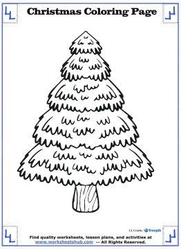 christmas tree coloring page 14
