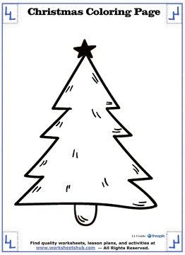 christmas tree coloring page 15