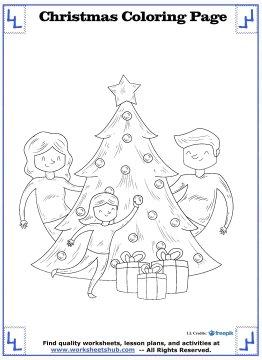 christmas tree coloring page 17