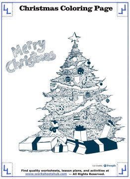 christmas tree coloring page 9