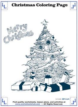 christmas tree coloring page 9
