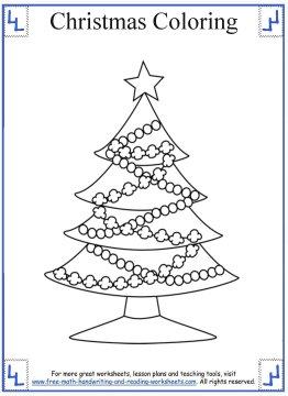 christmas tree coloring page 3