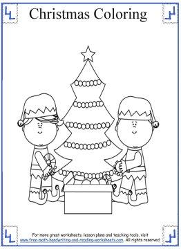 christmas tree coloring page 4