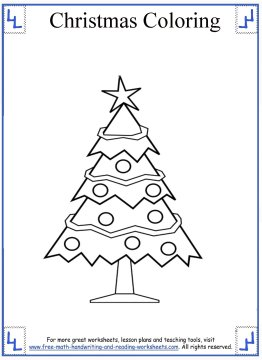 Christmas Tree Coloring Page 5