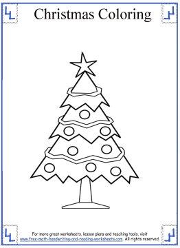 christmas tree coloring page 5