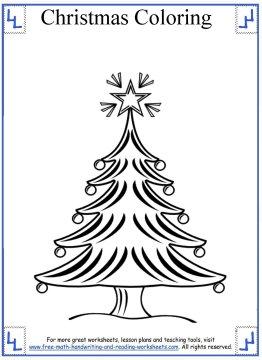 christmas tree coloring page 6