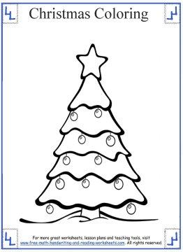 christmas tree coloring page 7