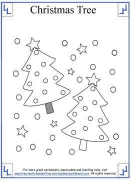christmas tree coloring page 1