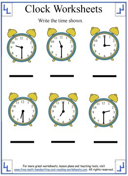 Clock Worksheets Learning Half Hours - 19+ Kindergarten Telling Time Worksheets Pics