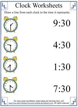 clock worksheets 3