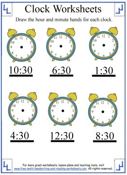 clock worksheets 5