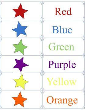 Printable Color Flashcards