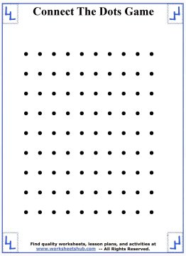 Resource image for dots and boxes printable