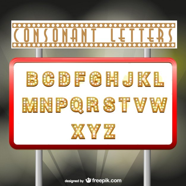Consonant Letters
