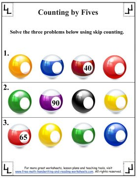 counting by fives 5