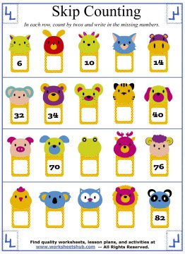 counting by twos 5