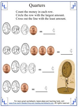 counting money worksheets 4
