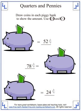 counting money worksheets 6