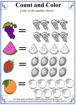 counting fruit numbers template