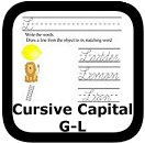 cursive handwriting upper G-L